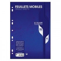 Feuillets mobiles 50 seyes A4 blanc 90gr CALLIGRAPHE