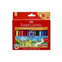 Faber Castell 12 Grip Erasable Crayons