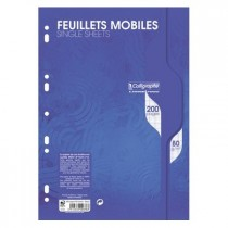 Feuillets mobiles 200 seyes A4 blanc 90gr CALLIGRAPHE
