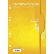 Feuillets mobiles 50 seyes A4 jaune 80gr CALLIGRAPHE